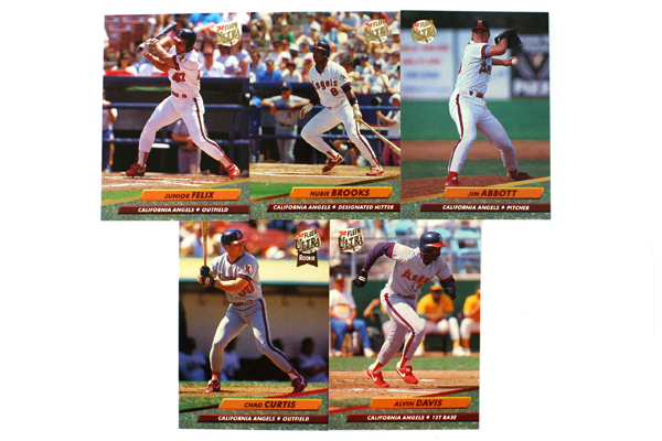 Fleer Ultra Series 2 California Angels 1992 Baseball Team Set of 11 Cards