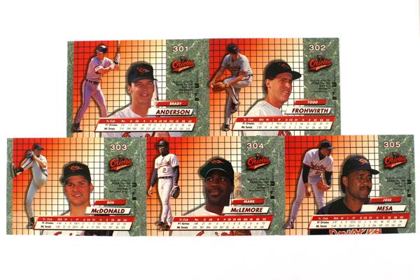 Fleer Ultra Series 2 Baltimore Orioles 1992 Baseball Team Set of 10 Cards