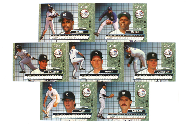 Fleer Ultra Series II New York Yankees 1992 Baseball Team Set of 14 Cards