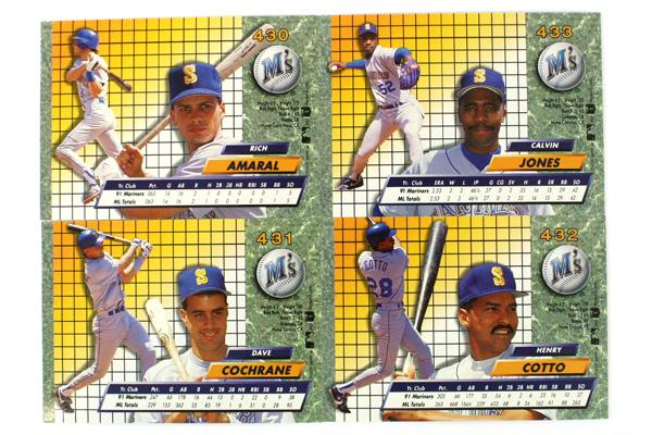 Fleer Ultra Series II Seattle Mariners 1992 Baseball Set of 7 Cards