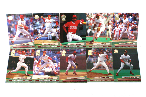 Fleer Ultra Series II Philadelphia Phillies 1992 Baseball Team Set of 10