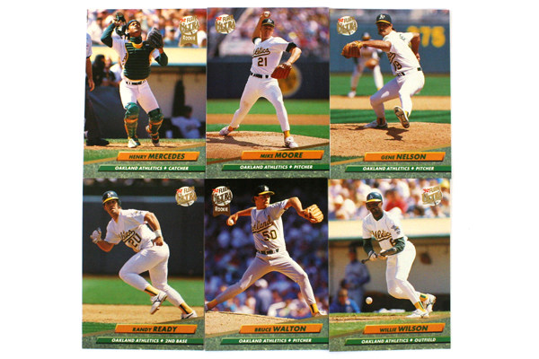 Fleer Ultra Series II Oakland Athletics 1992 Baseball Team Set of 12
