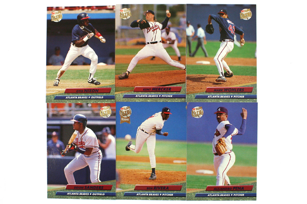 Fleer Ultra Series II Atlanta Braves 1992 Baseball Team Set of 11
