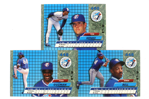 Fleer Ultra Series II Toronto Blue Jays 1992 Baseball Team Set of 7