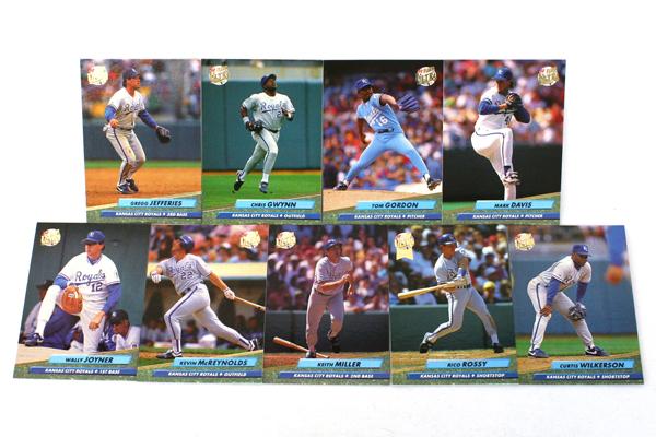 Fleer Ultra Series II Kansas City Royals 1992 Baseball Team Set of 9