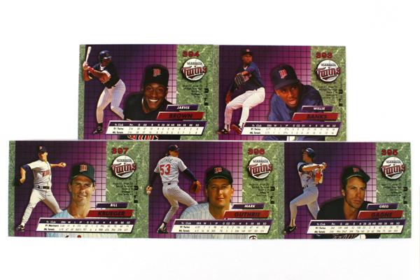 Fleer Ultra Series II Minnesota Twins 1992 Baseball Team Set of 11