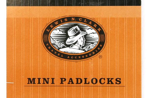 Package Of Two 1996 Lewis N. Clark Mini Padlocks No.1220 NIP