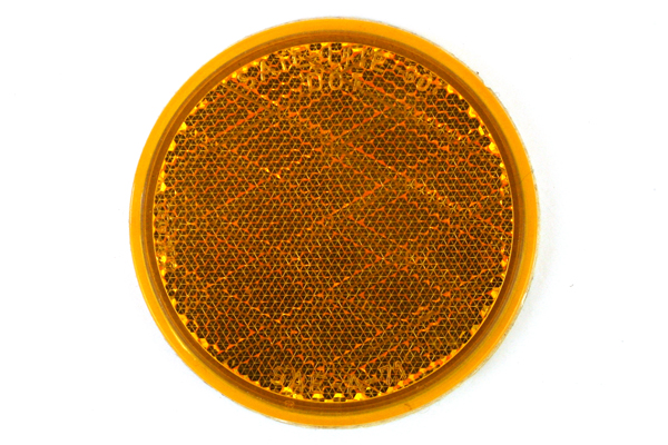"""3.25"""" Diameter Amber Sate-Lite-30 H D.O.T. SAE-A-71 Stick On Reflector"""