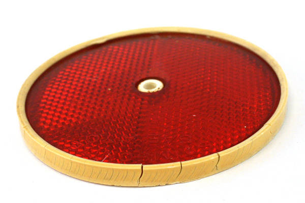 """Vintage 3 3/8"""" Red Stimsonite 75 SAE-A-70 Reflector (As-Is)"""