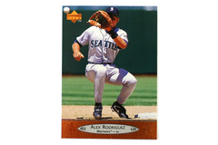 1996 Alex Rodriguez Seattle Mariners Baseball Card Upper Deck MLB #202