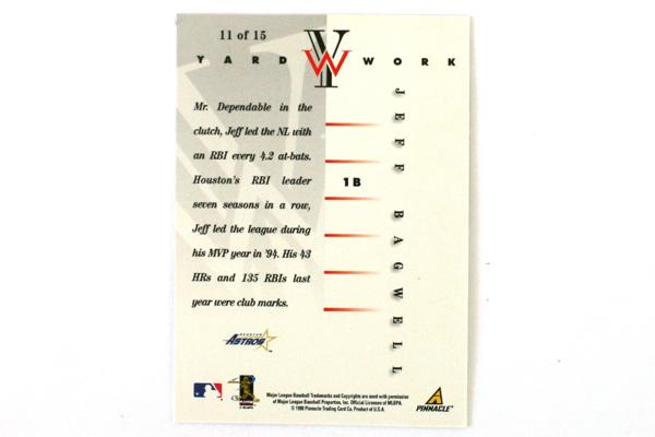 1998 Pinnacle Jeff Bagwell Huston Astros Yard Work Card Insert #11 MLB