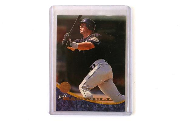 1994 Jeff Bagwell Houston Astros Baseball Card Leaf #221