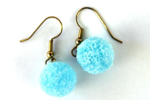 Lot of 3 Pair Gold Tone Hook Earrings ~ Orange Pink Blue
