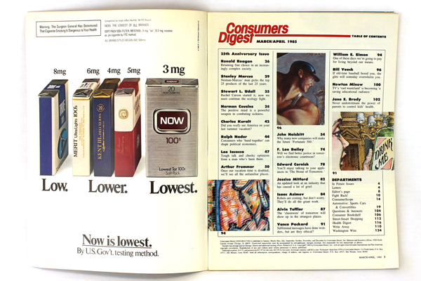Collector's Ed. Consumers Digest 25th Anniversary Edition March/April 1985