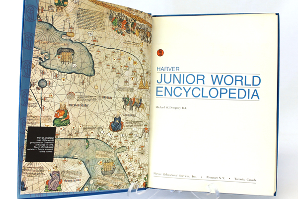 1972 Harver Junior Encyclopedia Volume 16 Atlas Section and Index