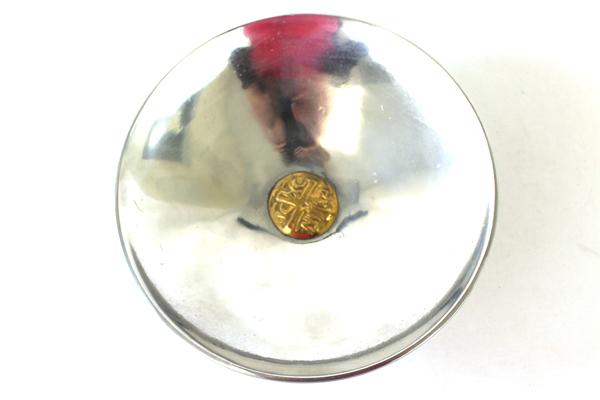 Vintage Silver Tone Metal Tanarpaia Xeipowoinon Dish With Brass Center