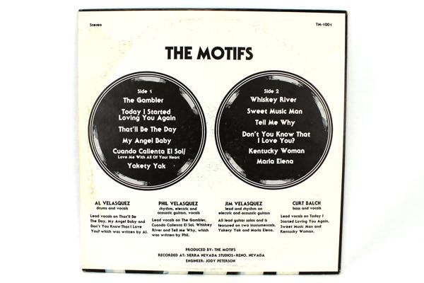The Motifs LP Private Label Lounge Pop Rock Autographed 1979