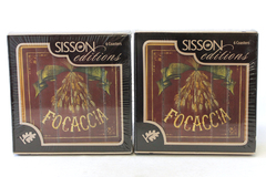 12 Sisson Editions Imports Cork Backed Pane Focaccia Coasters 2 Sets of 6