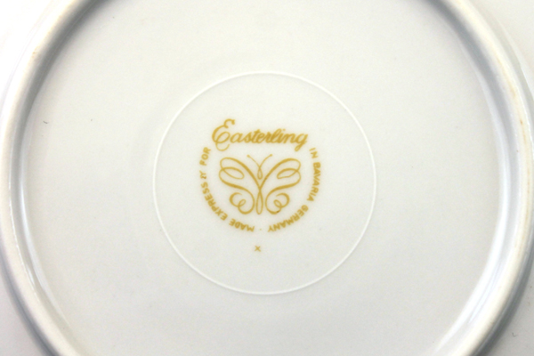 """6.25"""" Easterling China Caprice Pattern Bread/ Butter Plate From Bavaria, Germany"""