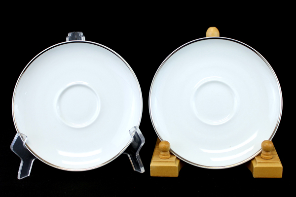 """Lot Of Two 6.25"""" Easterling China Caprice Saucers From Bavaria, Germany"""
