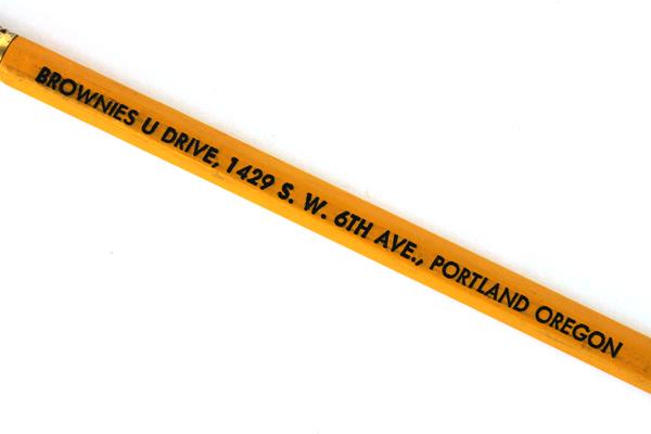 Goldenrod Brownies U Drive Portland, Oregon Advertising Pencil