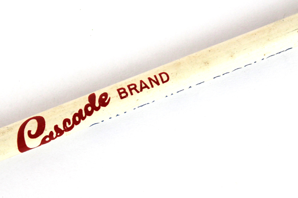 White Enamel Cascade Brand Quality Meat Products Salem, OR Advertising Pencil