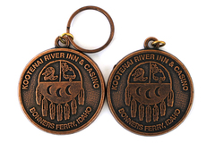 Lot Of Two Bronze Kootenai River Inn & Casino Key Chain Pendants