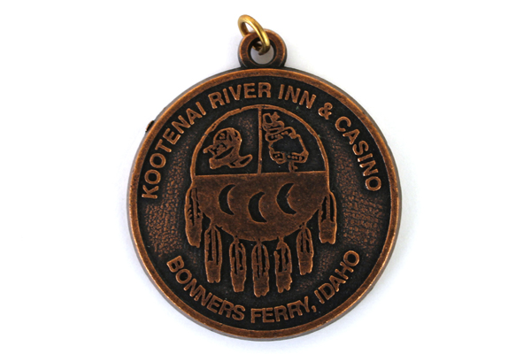Lot Of Two Bronze Kootenai River Inn & Casino Key Chain Pendants