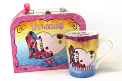 Friends Mug in Suitcase Box Set Lady Layne Ltd 2004 Steal Your Heart