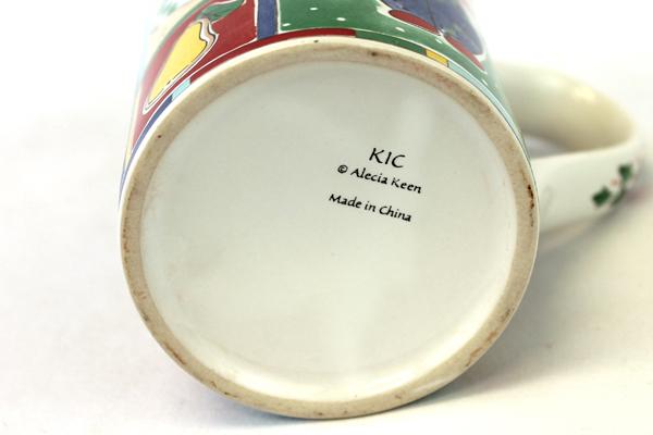 Alecia Keen Porcelain Whimisical Christmas Mug by KIC