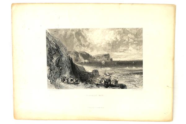 J.W.M. Turner Clovelly Bay Steel Engraving By D. Appleton & Co