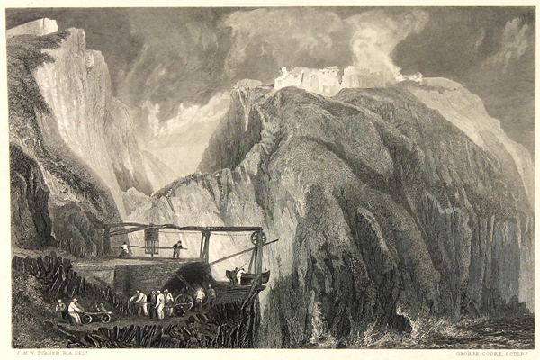 J.W.M. Turner Tintagel Castle Steel Engraving