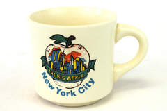 New York City USA The Big Apple Twin Towers Ceramic Coffee Tea Cup Mug 3.5""