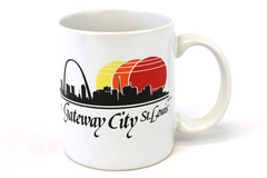 Gateway City St. Louis MO Missouri IDC White Ceramic Souvenir Skyline Cup Mug