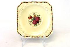 Vintage Crown Ducal Gainsborough England Square Salad Plate