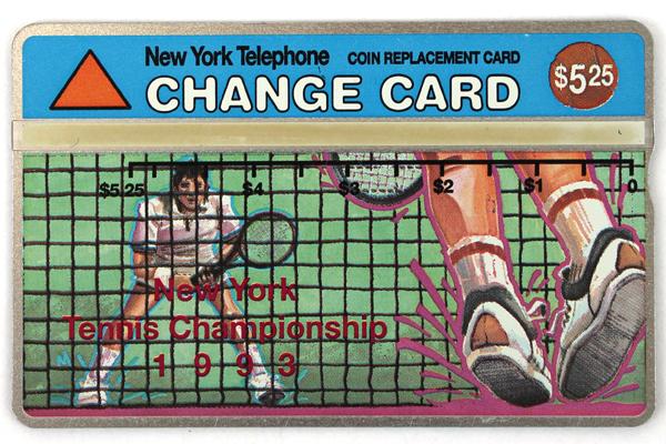New York Tennis Championship 1993 Change Phone Card