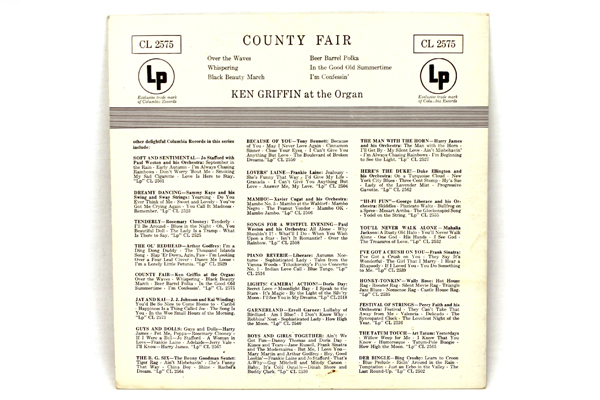 Vintage 78RPM Ken Griffin at the Organ Country Fair CL 2575