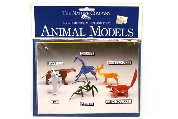 Nature Company Six 3D Cut and Fold Paper Animal Models Set #2