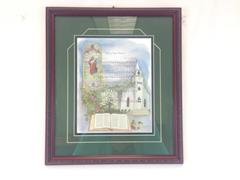"15"" x 13"" Matted Art Wall Hang Framed Print FAITH OF OUR FATHERS LE Janet West"