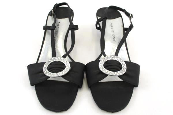 Women's Predictions Slingback Open Toe Clasp Bow Jeweled Embellish Heels 6-1/2W