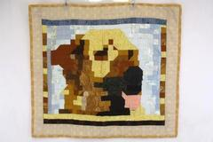Autumn Fall Earth Tone Themed Quilt Square Wall Hanging Square Tapestry