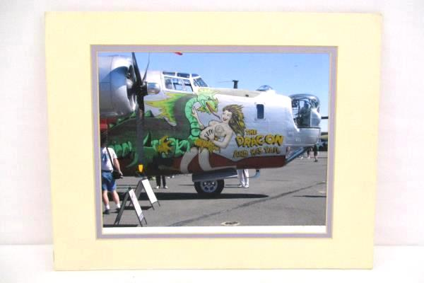 B-24 Warbird Matted Picture The Dragon and His Tail Signed Print