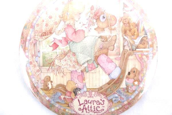 Lot of 10 Vintage 1993 Enesco Laura's Attic Pinback NOS Girl Rocking Horse