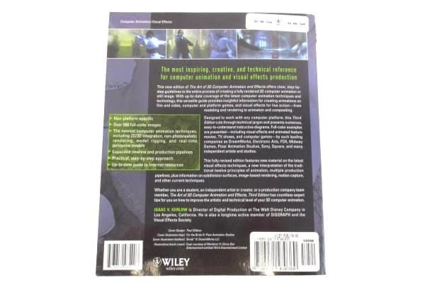 The Art of 3D Computer Animation and Effects by Isaac V Kerlow 3rd Ed Wiley 2004