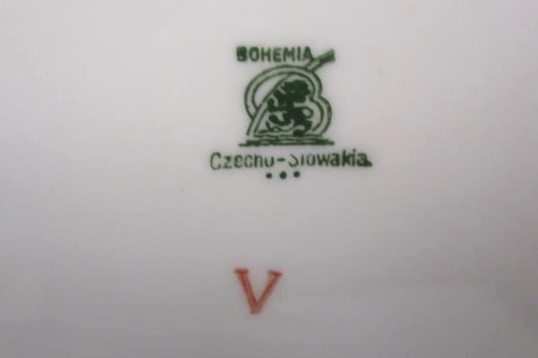 Bohemia Czechoslovakia Donatello Pattern Floral Oval Serving Bowl Vegetable