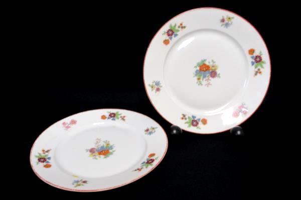 Replacements Bohemia Czechoslovakia Donatello Pattern Floral Bowl 2 Salad Plates