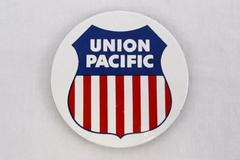 Union Pacific Logo Red White Blue Magnet