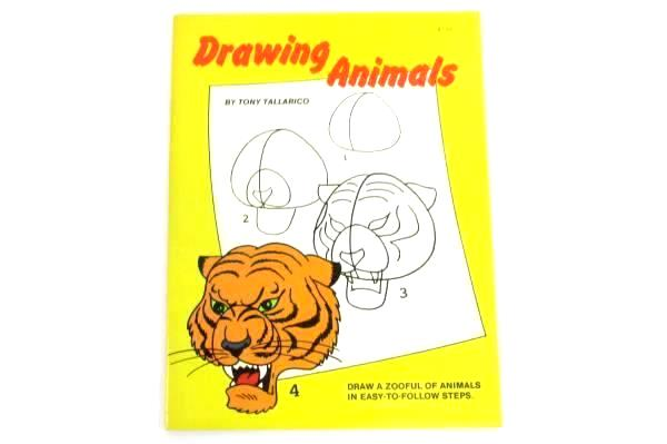 Drawing Animals by Tony Tallarico I Can Draw Zooful Vintage Unused 1980 Simon