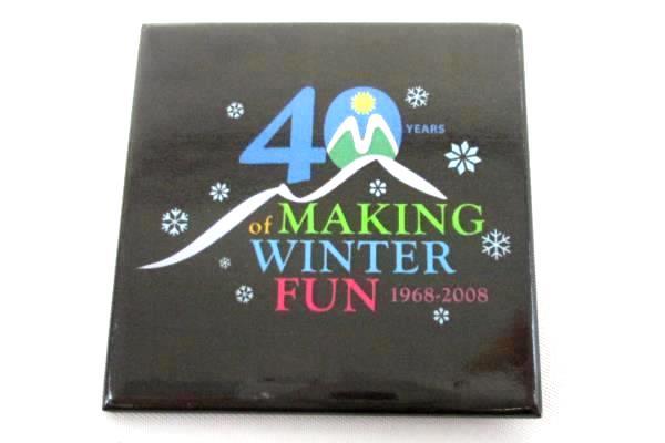Lapel Pin 40 Years of Making Winter Fun 1968-2008 Square