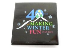 Lapel Pin 40 Years of Making Winter Fun 1968-2008 Square